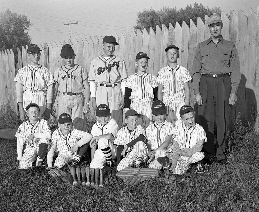 Gronvolds 1956 gronvold motors little league baseball te for U motors fargo north dakota