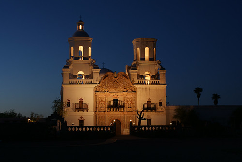 """Shoot"" San Xavier Mission at Night 