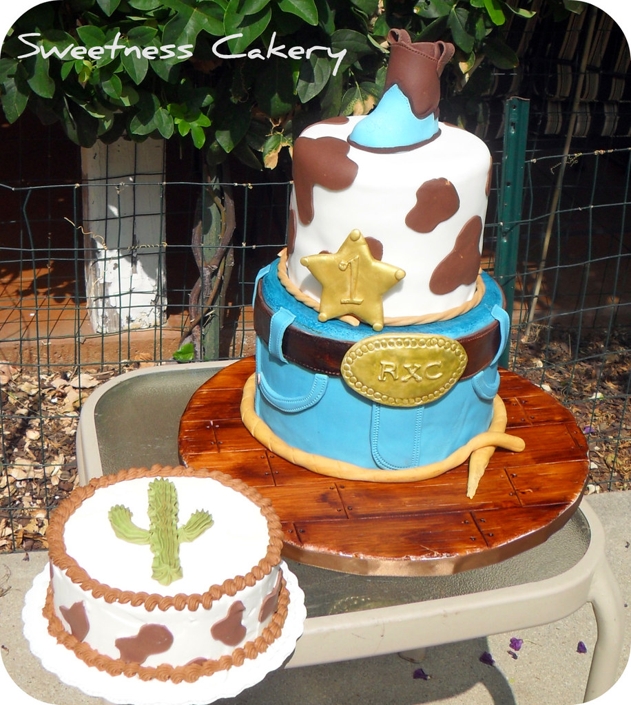 Cowboy 1st Birthday Cake Cowboy First Birthday Cake With S Flickr