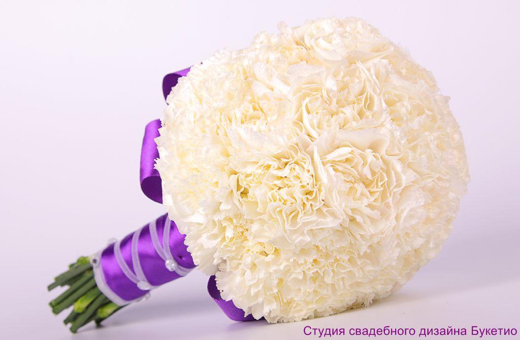 Букет невесты из гвоздик фото