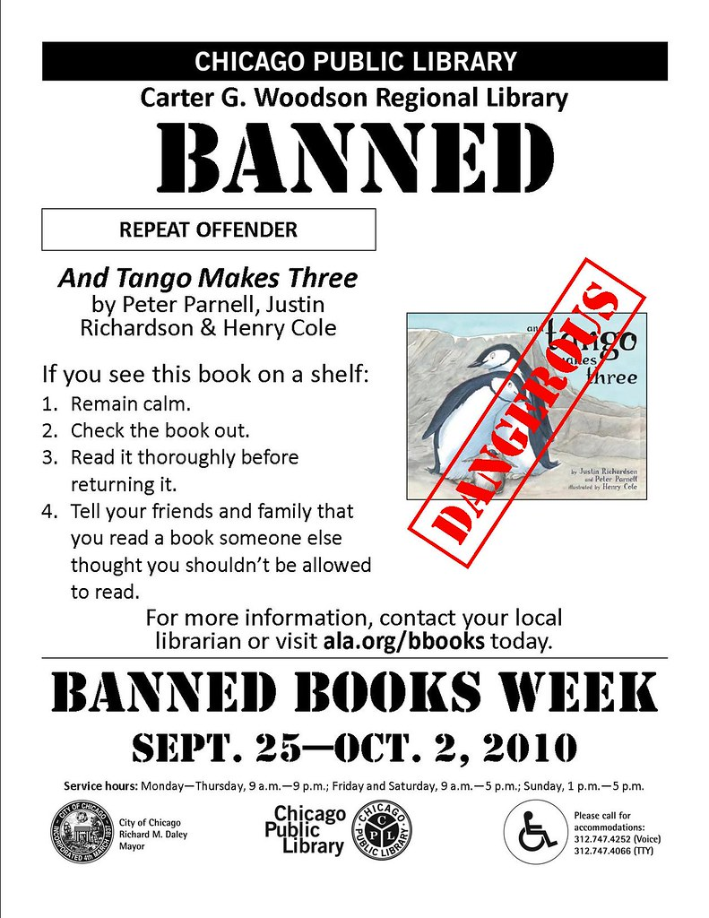 And Tango Makes Three - Banned Books Week 2010 Flyer