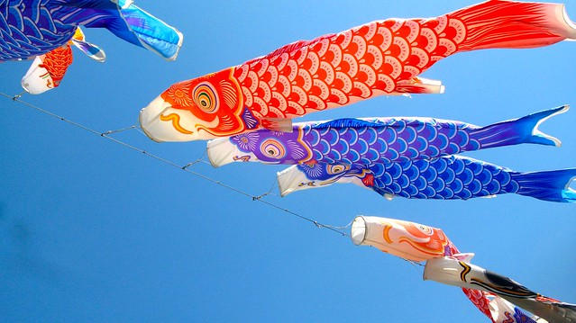 Carp koi windsocks flickr photo sharing for Japanese koi windsock