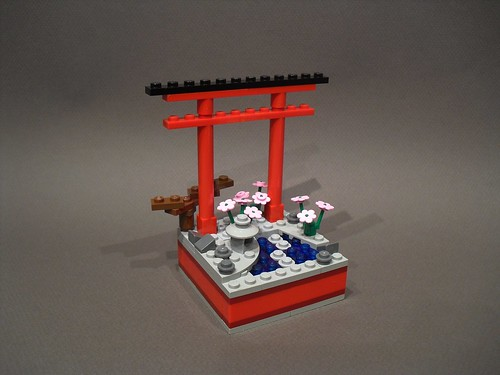"""Big in Japan - Best Traditional"" trophy design for BrickCon 2010 
