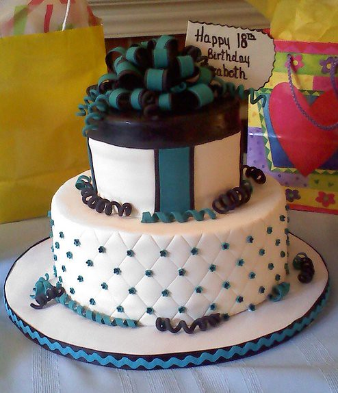 Cake Design 18th Birthday Girl : 18th Birthday cake This is a cake that I made for my ...