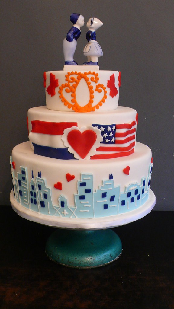 american flag wedding cake american wedding cake delfts blauw themed wedding 10742