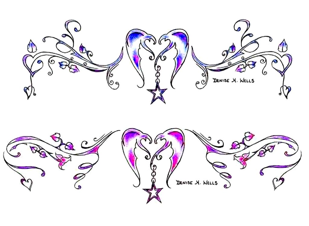 heartstar tattoo designs by denise a wells everyone has t flickr. Black Bedroom Furniture Sets. Home Design Ideas