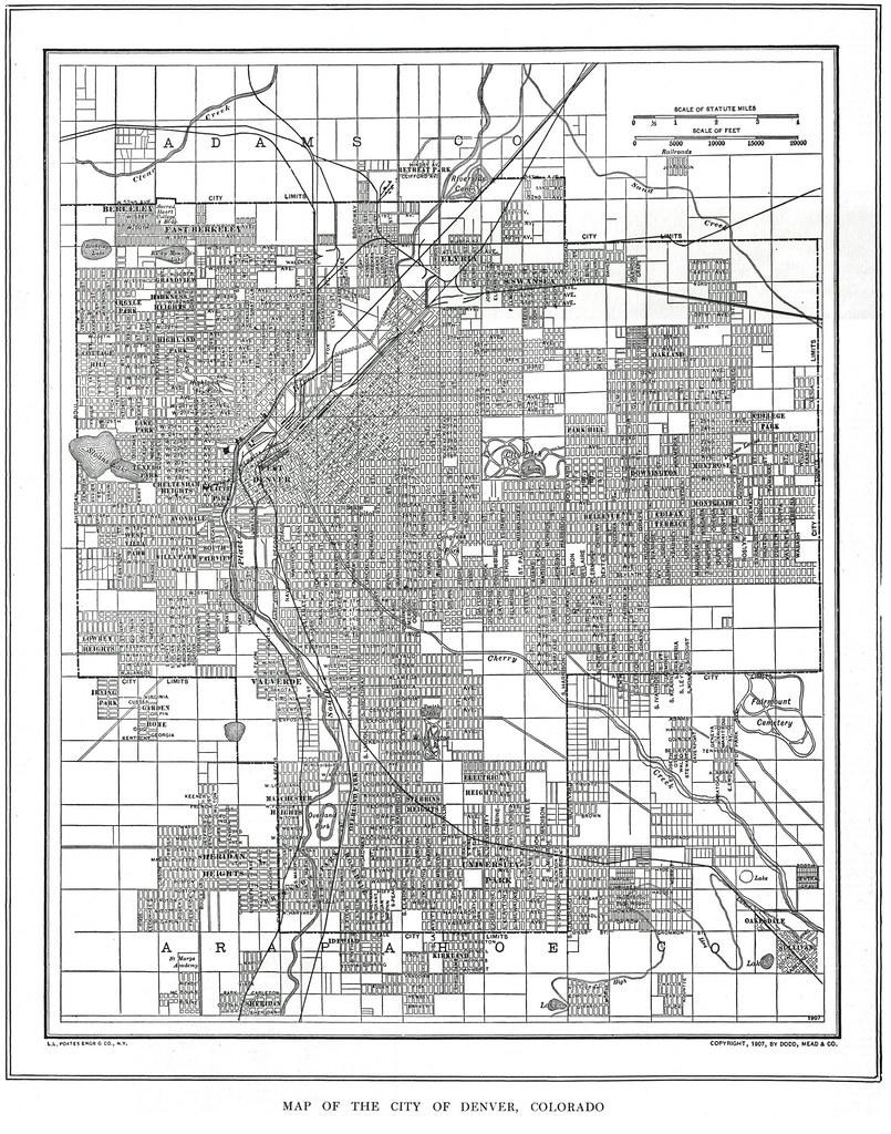 Denver Street Map, 1907   thornydalemapco   Flickr