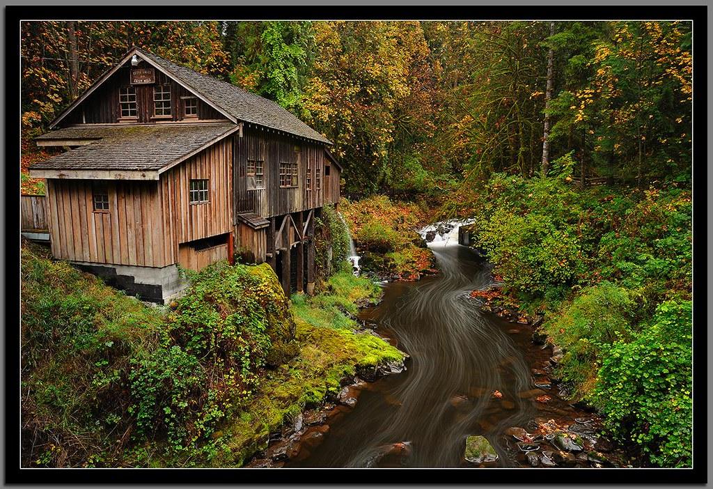 Cedar Creek Grist Mill Wa Best Viewed Large