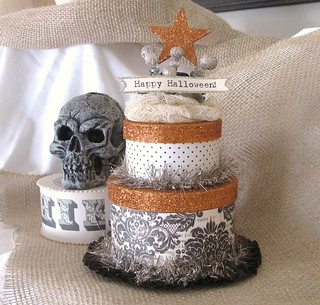 Halloween double layer cake box....... | by creative chaos