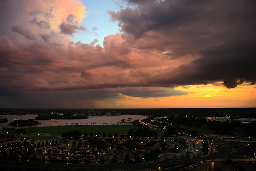 View From The Top Of Bay Lake Tower At Disney S Contempora