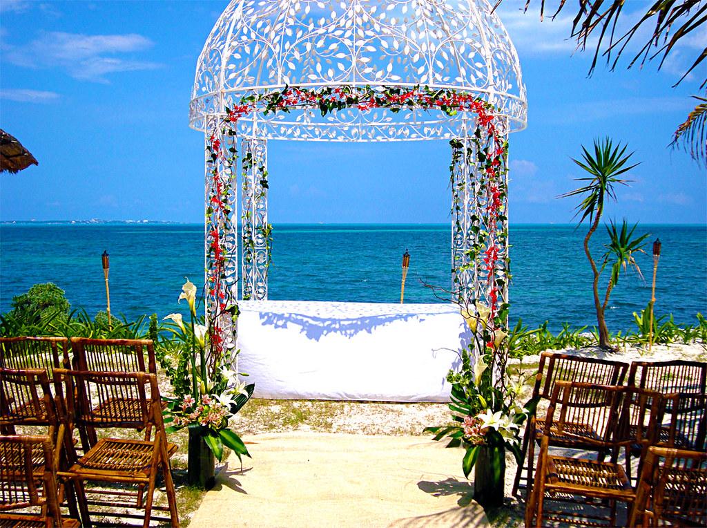 montajes para boda en la playa
