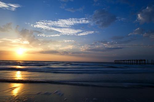 Ocean city nj fishing pier sunrise 1 jeffrey johnson for Ocean city nj fishing report