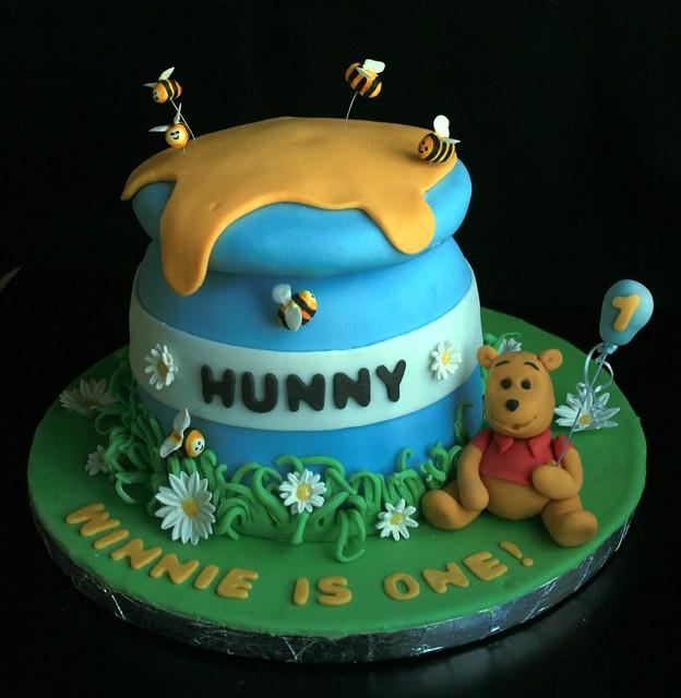 Pooh Birthday Cake Design : Winnie the pooh first birthday cake Flickr - Photo Sharing!