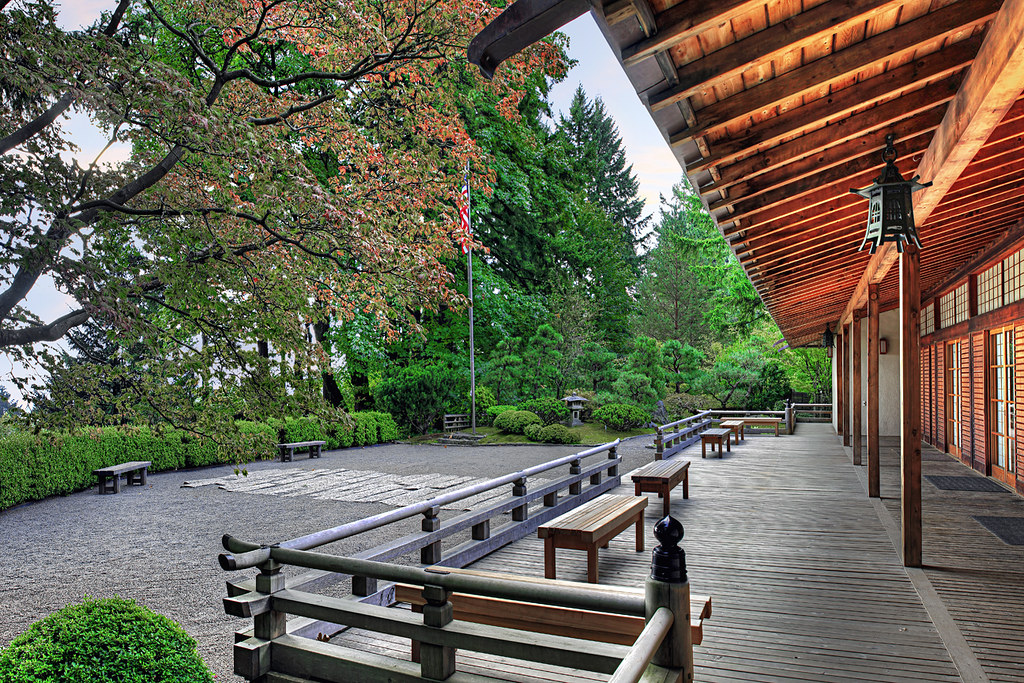 Veranda At The Pavilion In Portland Japanese Garden Hdr Flickr