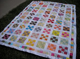 9-patch quilt top | by vickivictoria
