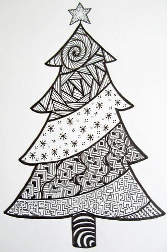 Christmas Tree Doodle (© Z.Ford) | Zoë Ford | Flickr