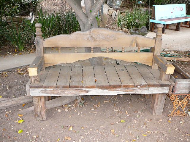 Outdoor wood bench - Shabby Chic Garden Bench Wood Shabby Chic Bench Built Fro