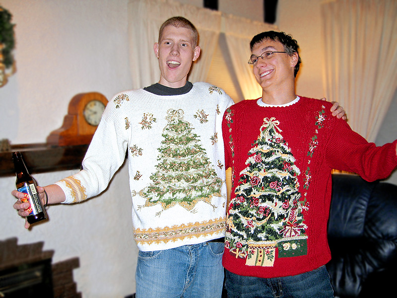 Ugly Christmas Sweater Party Two Guys At Ugly Christmas Sw Flickr