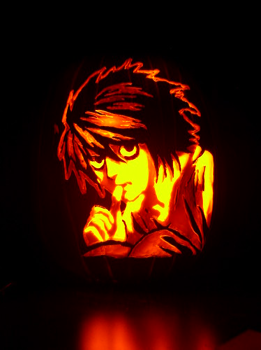L lawliet pumpkin carving of from death