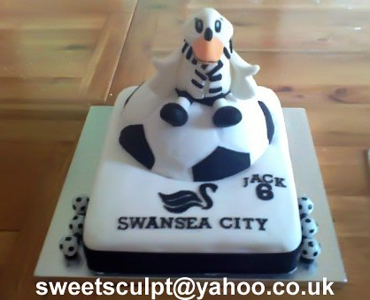 Football Team Cake Swansea City Always popular with the bo Flickr