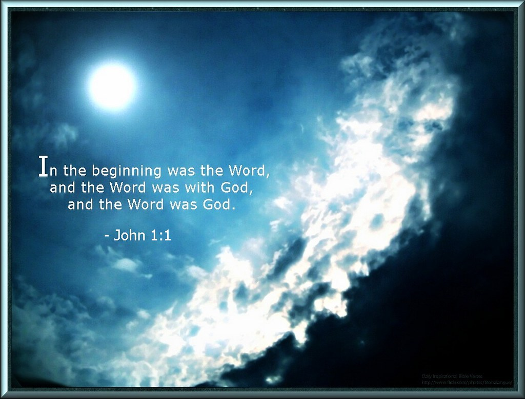 40 daily inspirational bible verse john 1 1