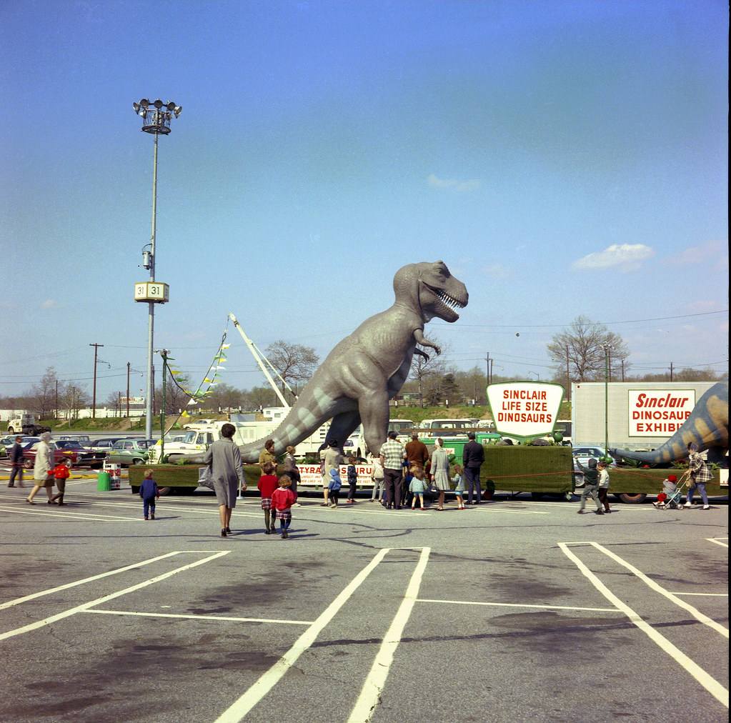 Found Photo Sinclair Dinosaurs The Sinclair Dinosaurs F Flickr