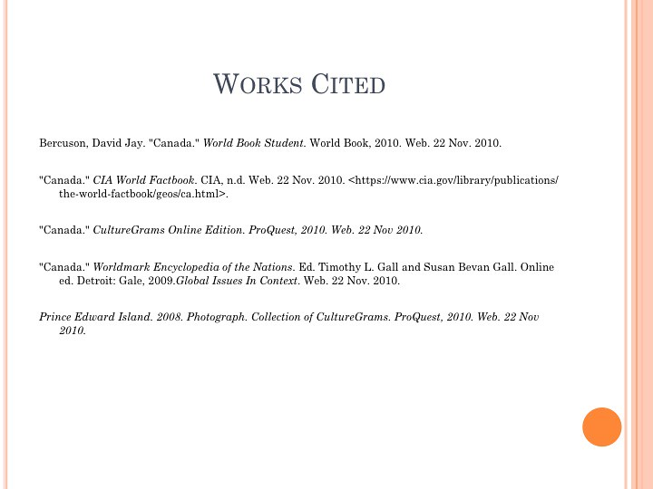 Creating an MLA works cited page