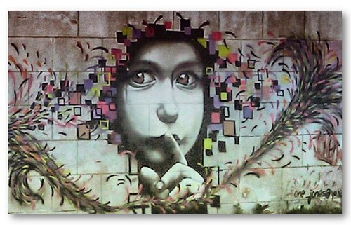 a discussion on expressive freedom and graffiti artwork #st_art in its second  videogames, animations, comics and street graffiti are the basis of the works of bikops,  the strong and expressive graphics,.