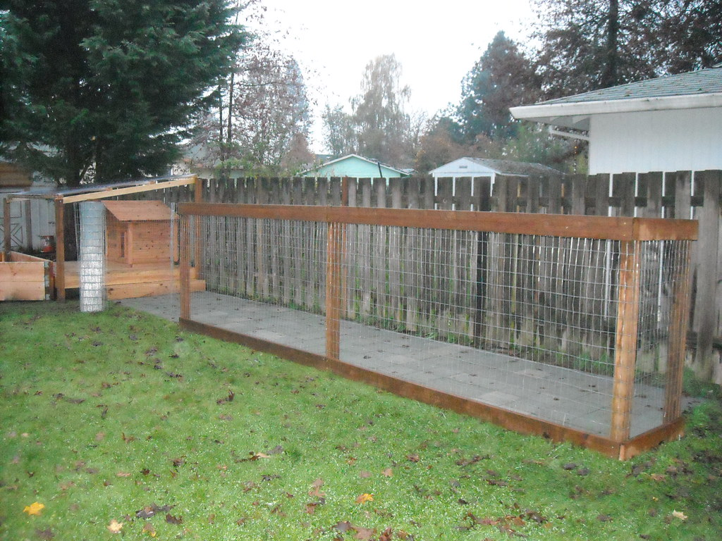 Dog Run - Putting Up the Fence | We used a simple fence ...