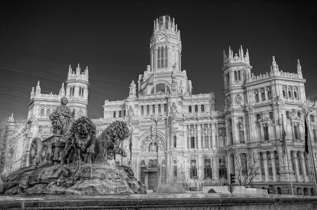Plaza De Cibeles Madrid Hdr The Plaza De Cibeles Is A