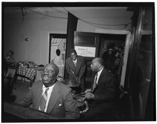 [Portrait of James P. (James Price) Johnson, Fess Williams, Freddie Moore, and Joe Thomas, William P. Gottlieb's office party, Jamaica, Queens, New York, N.Y., ca. 1948] (LOC) | by The Library of Congress