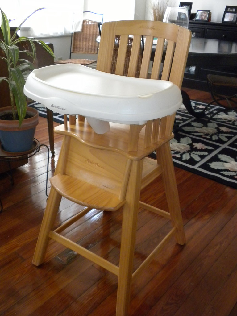 Eddie Bauer Wood Highchair | Sturdy wood high chair from ...