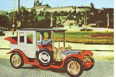 GDR postcard Matchbox Models of Yesteryear Rolls Royce in Prague (Hradcany in the background) by MisterBenz