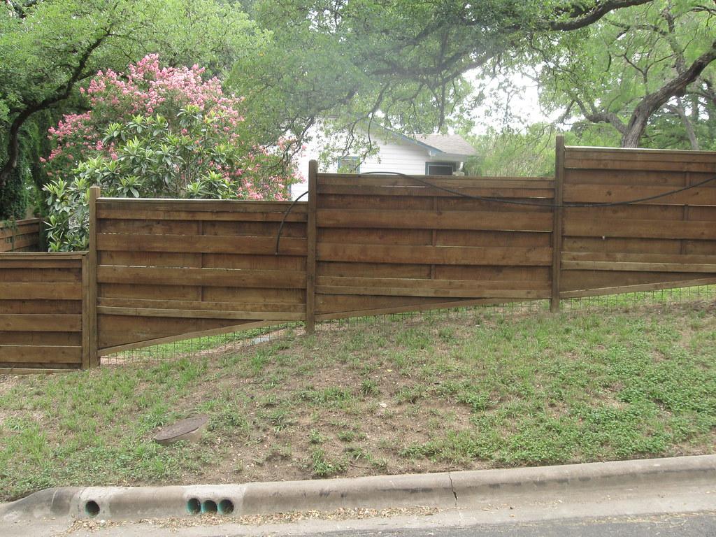 Wood Fence On Slope Aaron Odland Flickr
