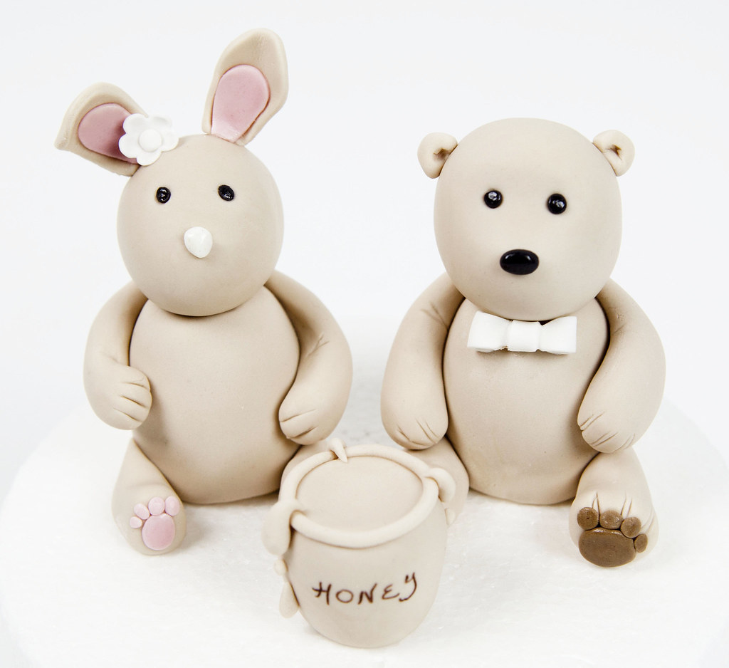 Bunny Bear Wedding Cake Topper