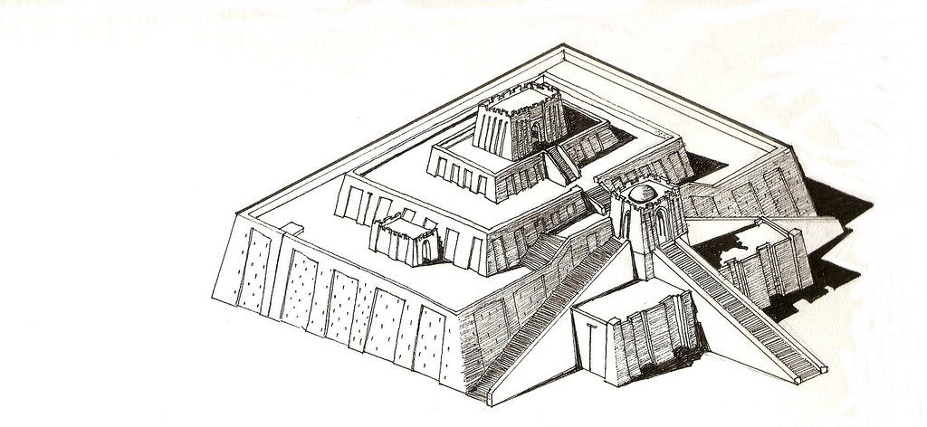 the gallery for gt ziggurat of ur sketch