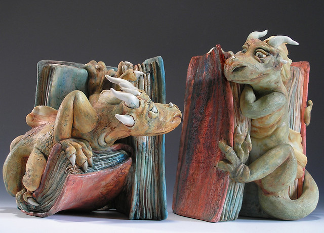 Dragon bookends sweetheart dragons hand built flickr photo sharing - Dragon bookend ...