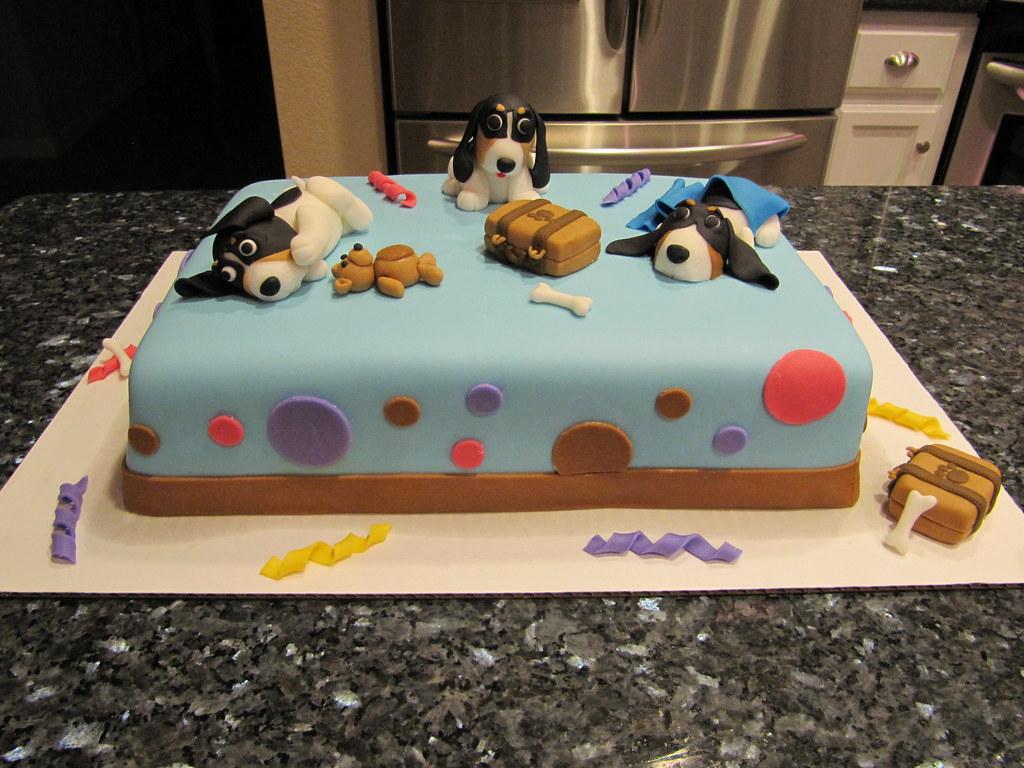 Basset Hound Birthday Cake