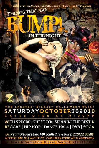 things that go bump in the night halloween club flyer flickr