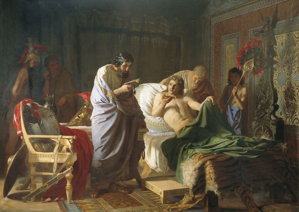 "Henryk Siemiradzki ""Alexander the Great and Physician Philip of Arcarnania"" 1870"