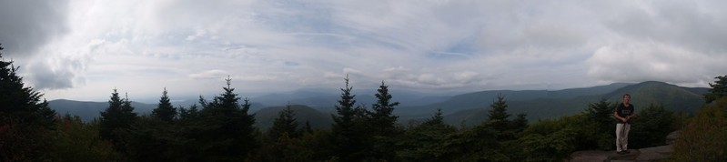 Multi-shot panorama from one of the fantastic viewpoints on Twin Mountain looking west