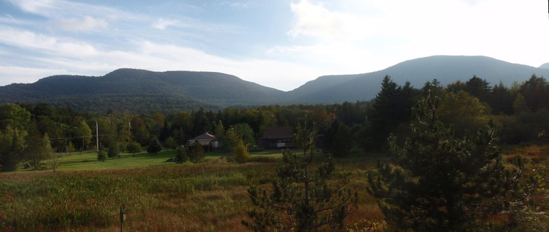 View from Platte Clove Road, Indian Head on the left and Twin Mountain on the right