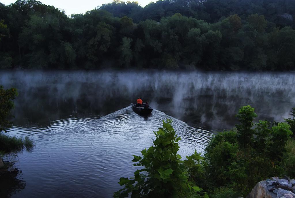Morning fishing on the james river many men go fishing for James river fishing