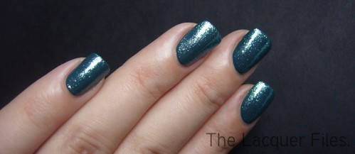 CND Urban Oasis + Teal Sparkle | by TheLacquerFiles