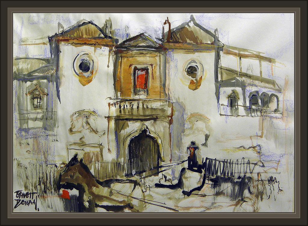Sevilla maestranza plaza toros caballos pinturas andalucia for Todo pintura sevilla