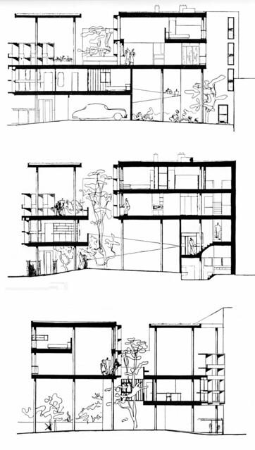 La plata casa curuchet arq le corbusier planos secciones flickr ph - Unite d habitation dimensions ...