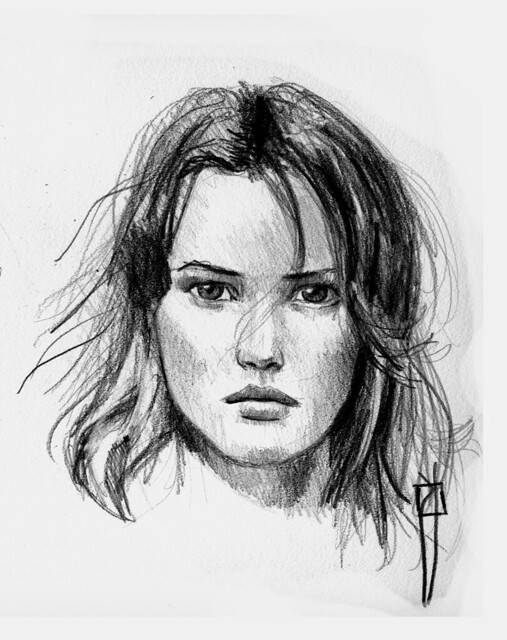 Pix For > Woman Face Sketch