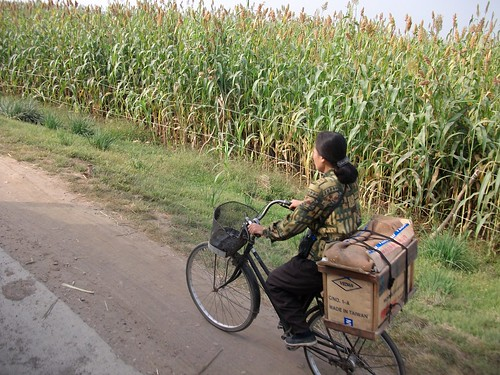 Cyclist in rural North Korea | by Ray Cunningham