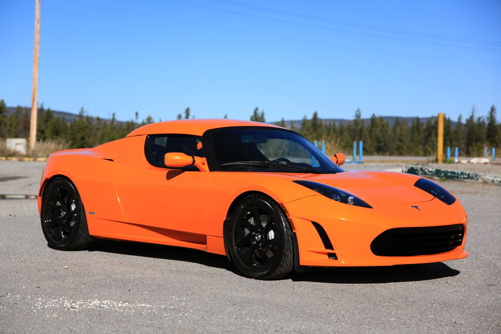 Tesla >> Very Orange Tesla Roadster Sport 2.5 | Capri and I took Joan… | Flickr