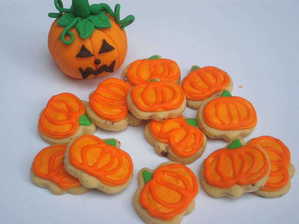 Calabazas galletas decoradas amapola pasteleria flickr - Calabazas decoradas ...